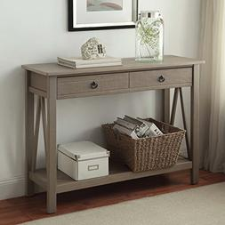 Maloof Rustic Gray Pine Wood Console Table