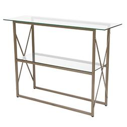 Flash Furniture Mar Vista Collection Glass Console Table wit