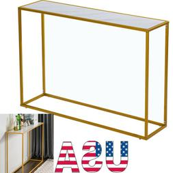 Marble Console Table Modern Sofa Accent Entryway Hall Furnit