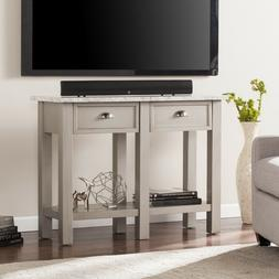 Marble Rectangular Console Table Two drawers And One Shelf