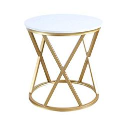Home Warehouse Marble Small Round Table, Nordic Style Living