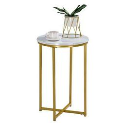 Marble Simple Round Dining Table Industrial Console Lounge B