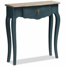 Baxton Studio Mazarine Console Table in Provincial Blue Spru