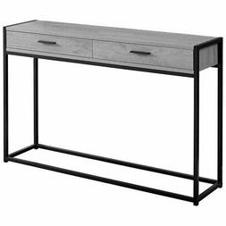 Monarch Specialties Metal Accent Table in Gray and Black