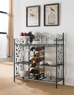 Kings Brand Furniture Metal Console Table Wine Rack Buffet S