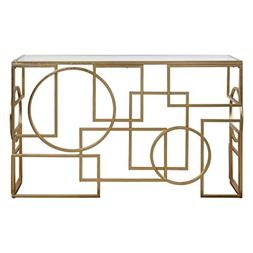 """Diva At Home Metria Gold Console Table 32"""""""