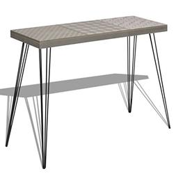 Festnight Mid Century Console Table with Stable Metal Legs f