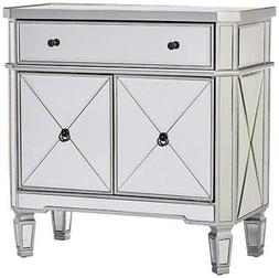 mirrored 1 drawer 2 door console
