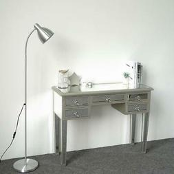 Mirrored Desk Console Table Make-Up Vanity Table in Silver F