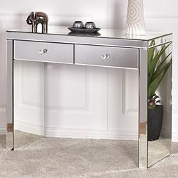 Giantex Mirrored Console Table with 2 Drawers Vanity Dressin