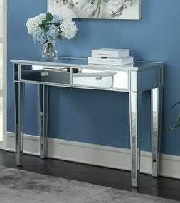 Mirrored Console Table With 2 Drawers Storage Dressing Table