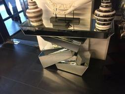 Mirrored Designer Glass Console Table with Free Bangle Stand