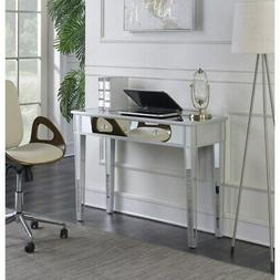 Mirrored Vanity Make-Up Desk Console Dressing Silver Glass T