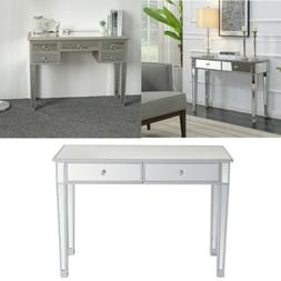 mirrored vanity make up desk console dressing