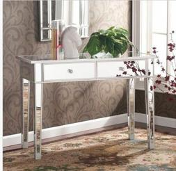 Mirrored Vanity Table Console Desk Modern Contemporary Makeu