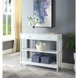 Convenience Concepts Mission 1 Drawer Console Table in White