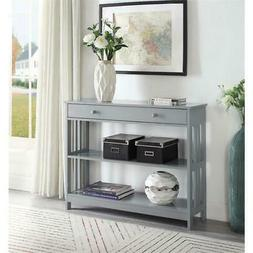 Convenience Concepts Mission 1 Drawer Console Table in Gray