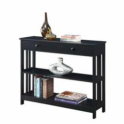 Convenience Concepts Mission 1 Drawer Console Table