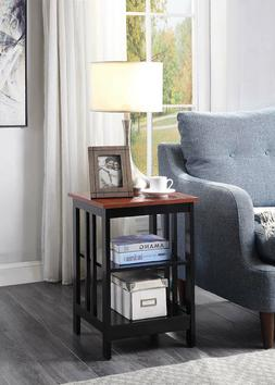 Mission Style End Table Sofa Chair Side Console Wood Modern
