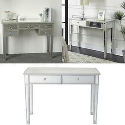 modern console table desk mirrored makeup table
