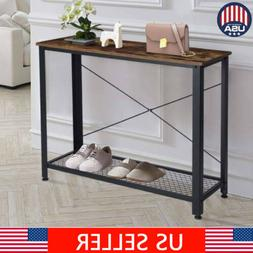 Modern Console Table/Desk Shelf Stand Sofa Entryway Hall Fur