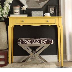 Modern Cottage Wood Narrow End Sofa Console Accent Table wit