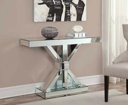 Modern Glam Accent Decor Mirrored Entryway Console Table Sil