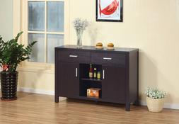 Modern Red Cocoa Buffet Sideboard Kitchen Serving Table Cons