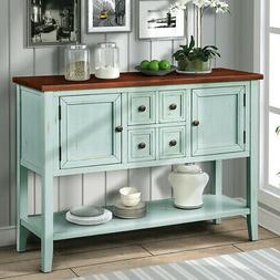 Modern Retro Buffet Sideboard Console Table with Bottom Shel