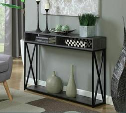 Modern Slim Entryway Console Table Storage Industrial Contem