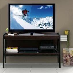 """Modern Wood 45"""" Ladder TV Stand Console Table with Metal Leg"""