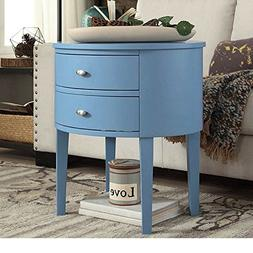 Modern Style Wood Accent Nightstand End Sofa Table Console O