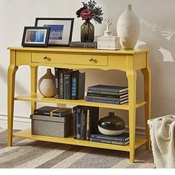 Modern Wood TV Stand Accent Console Sofa Table with 1 Drawer