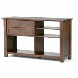 Simpli Home Monroe Solid Acacia Wood Console Table, Large, D