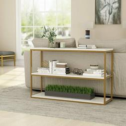 Multi-purpose Console Table With White Marble Top Entryway L