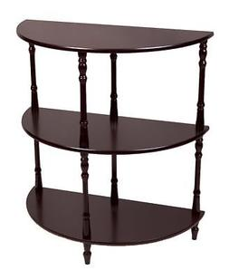 multi tiered end table expresso