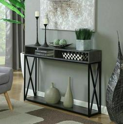 Narrow Console Table For Entryway W Storage Shelf Entry Mode