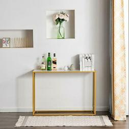 New Minimalist Marble MDF Metal Console Table End Side Stand