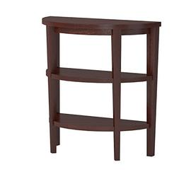 Convenience Newport 3 Shelf Console Mahogany, New