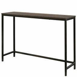 Sauder North Avenue Narrow Metal Frame Console Table in Smok