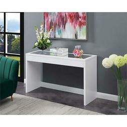 Convenience Concepts Northfield Mirrored Console Table in Wh