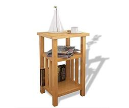 Oak Side Table Solid Wood Bedroom Furniture Small End Wooden