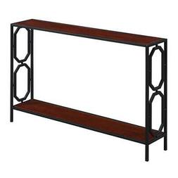 Convenience Concepts Omega Black Metal Frame Console Table i