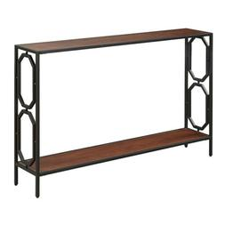 Convenience Concepts Omega Metal Console Table, Cherry / Bla
