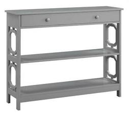 Convenience Concepts Omega Storage Console Table in Gray Woo