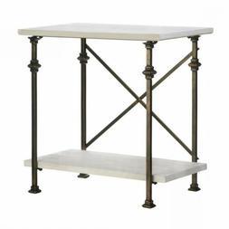 *ON SALE THRU 3/4: Minimalist Design Iron And Wood Console T