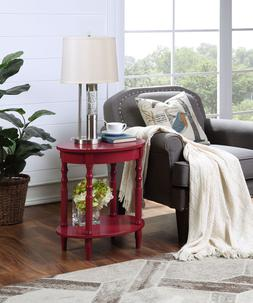 Oval End Table Sofa Side Console Accent Display Stand Modern