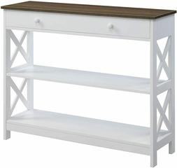 Convenience Concepts Oxford 1 Drawer Console Table, Driftwoo