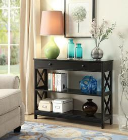 Oxford Console Accent Hall Sofa Table with Drawer and Shelve