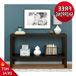 Parsons Console Table Sofa Espresso Kitchen Entryway Office